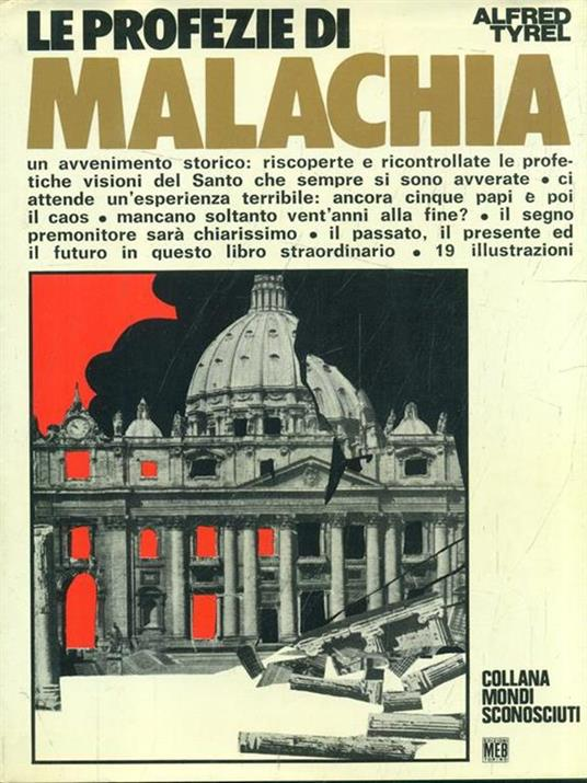 Le profezie di Malachia - Alfred Tyrel - copertina