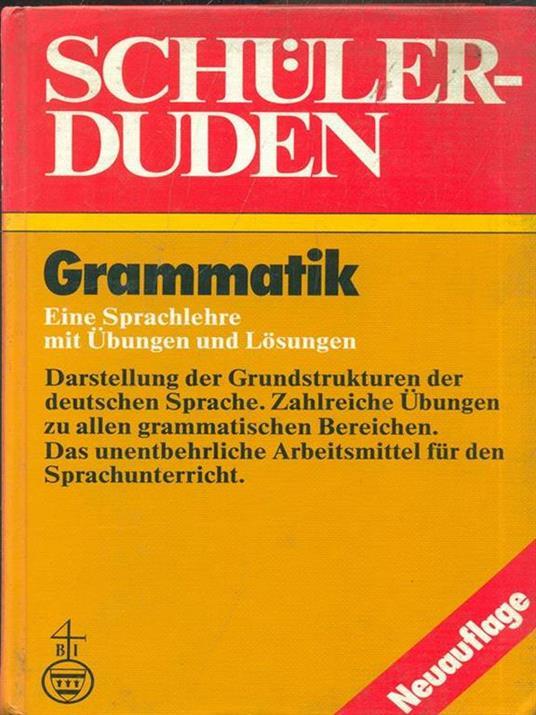 Schulerduden Grammatik - copertina