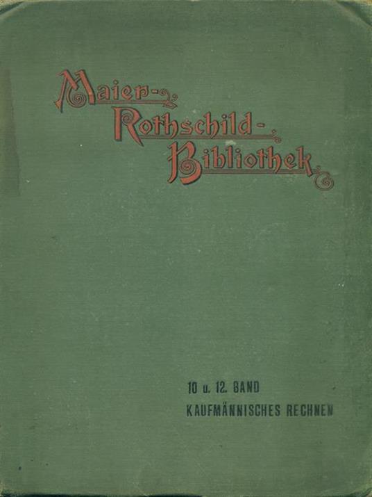 Maier-Rothschild-Bibliothek - copertina