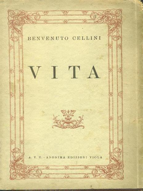 Vita - Benvenuto Cellini - copertina