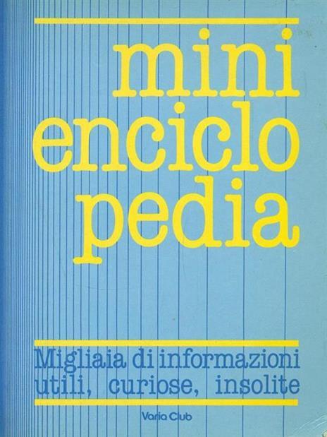 Mini enciclopedia - copertina