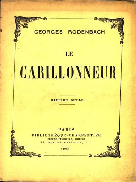 Le Carillonneur - copertina