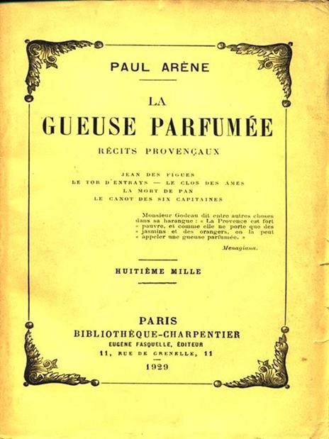 La gueuse parfumee - Paul Arene - copertina