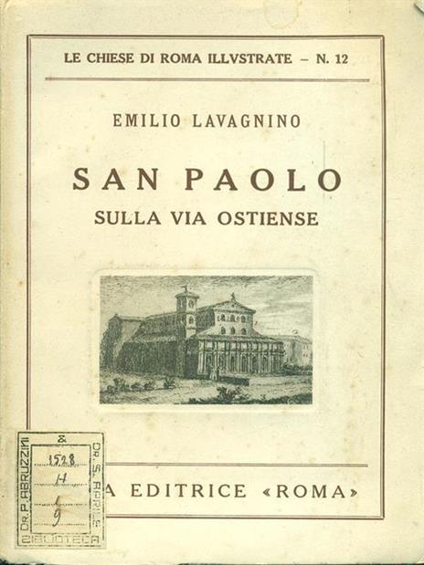 San Paolo sulla via Ostiense - Emilio Lavagnino - copertina