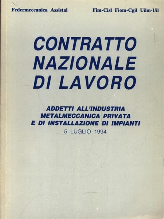 Contratto nazionale di lavoro. 5 Luglio 1994 - copertina