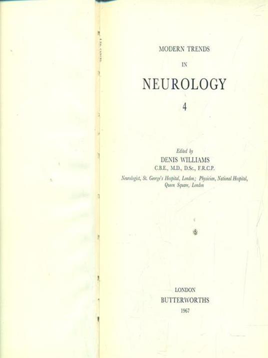 Modern trends in neurology 4 - Dorian Williams - copertina