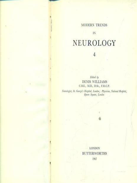 Modern trends in neurology 4 - Dorian Williams - 2