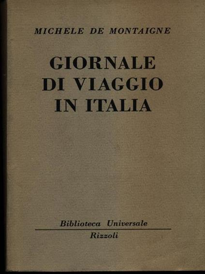 Giornale di viaggio in Italia di: M. de Montaigne - copertina
