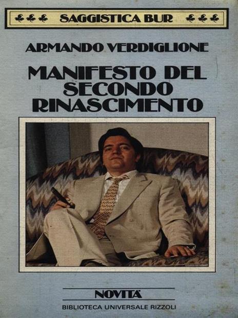 Manifesto del secondo rinascimento - Armando Verdiglione - copertina