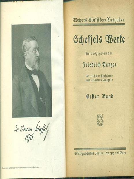 Scheffels Werke erster band - Panzer Friedrich - copertina