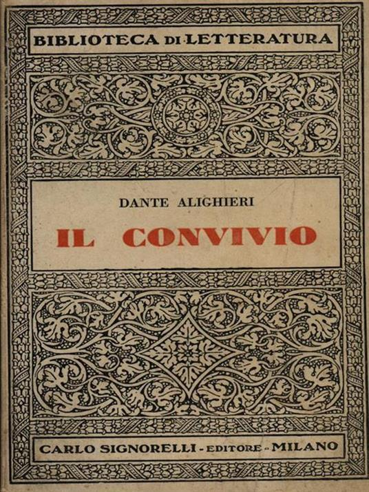 Il convivio - Dante Alighieri - copertina