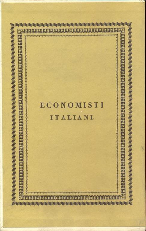 Economisti italiani. Tomo XLII Supplemento - copertina