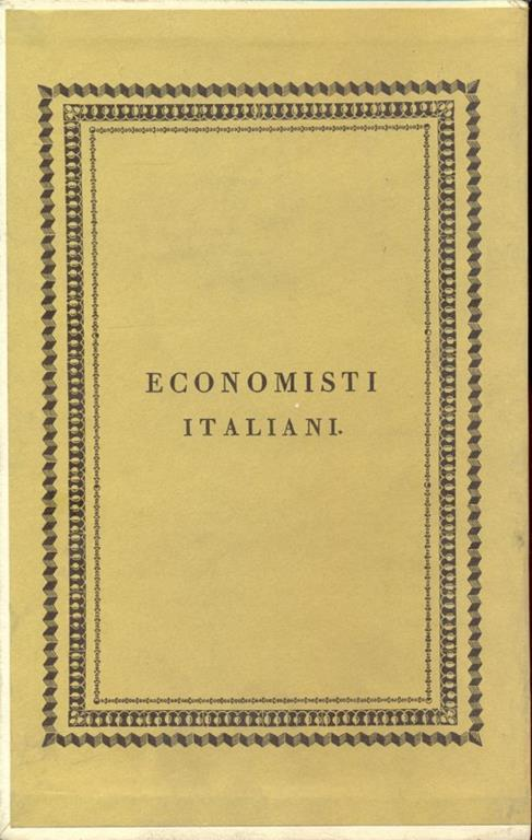Economisti italiani - Tomo XI Beccaria - 2