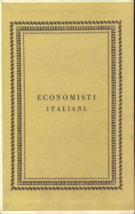 Economisti italiani - Tomo XI Beccaria - copertina