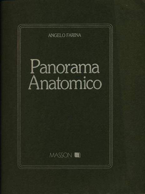 Panorama anatomico - Angelo Farina - copertina