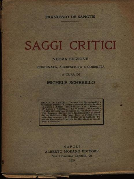 Saggi critici seconda serie - Francesco De Sanctis - 3