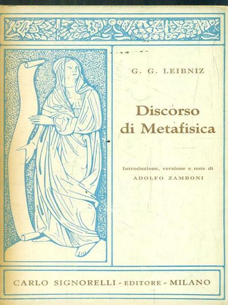 Discorso di metafisica - Gottfried W. Leibniz - copertina