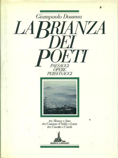 La  Brianza dei poeti - Giampaolo Dossena - copertina