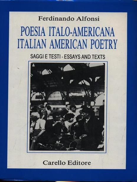 Poesia italo-americana - Ferdinando Alfonsi - copertina