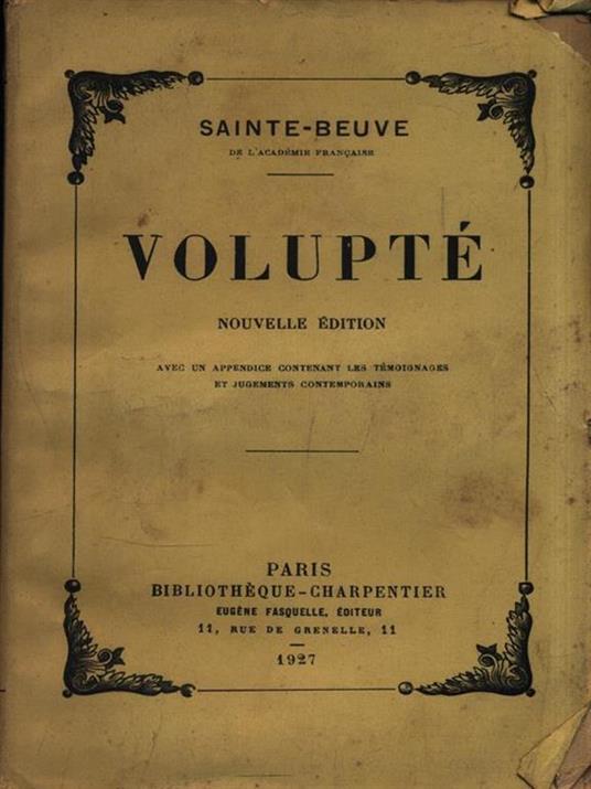 Volupté - Charles A. Sainte-Beuve - 3