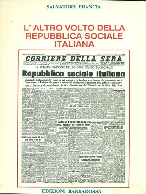 L' altro volto della repubblica sociale italiana - Salvatore Francia - copertina