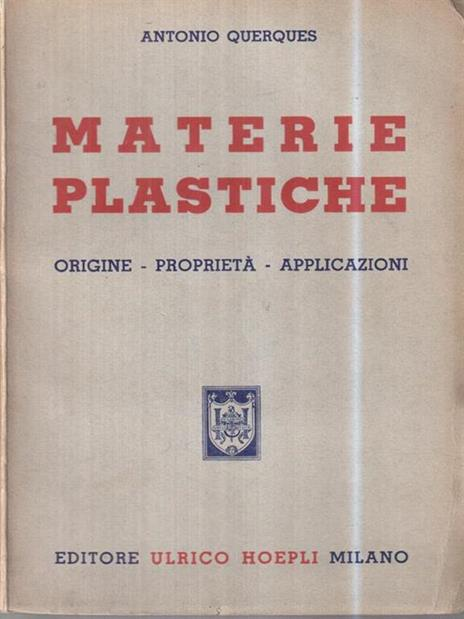 Materie plastiche - Antonio Querques - copertina
