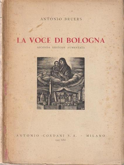 La voce di Bologna - Antonio Bruers - copertina