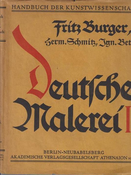 Die deutsche malerei vom ausgehenden mittelalter bis zum ende der renaissance II - copertina