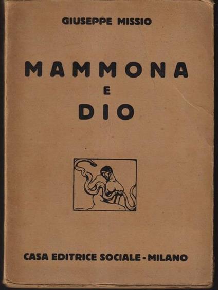 Mammona e Dio - Giuseppe Missio - copertina