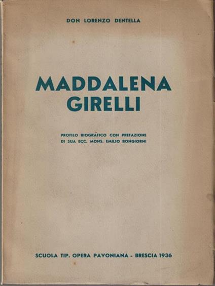 Maddalena Girelli - Lorenzo Dentella - copertina