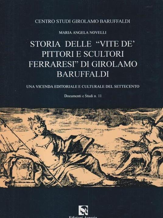 Storia delle vite de' pittori e scultori ferraresi di Girolamo Baruffaldi - Claudio Novelli - copertina