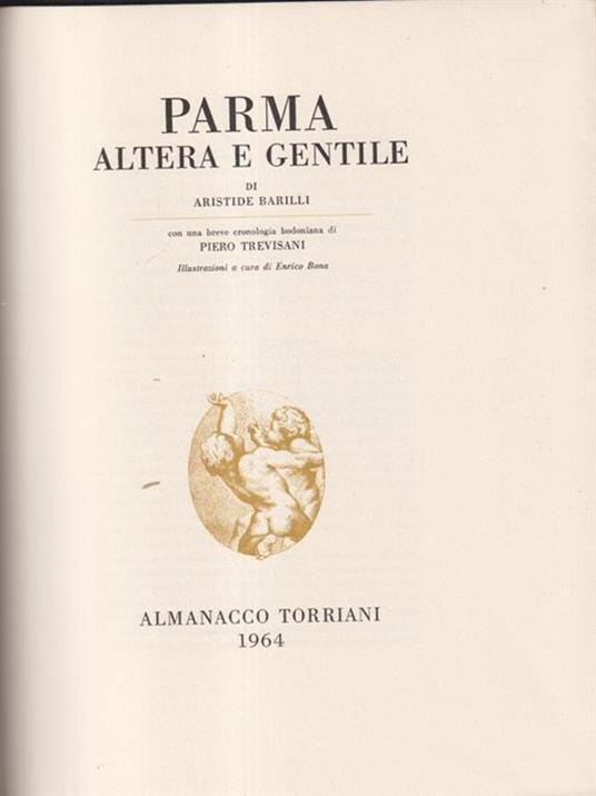 Parma altera e gentile - Aristide Barilli - copertina