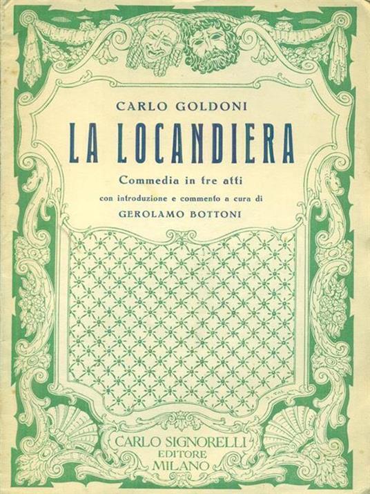 La  locandiera - Carlo Goldoni - copertina