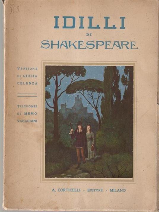 Idilli - William Shakespeare - copertina