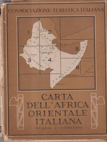 Carta dell'Africa orientale italiana - copertina