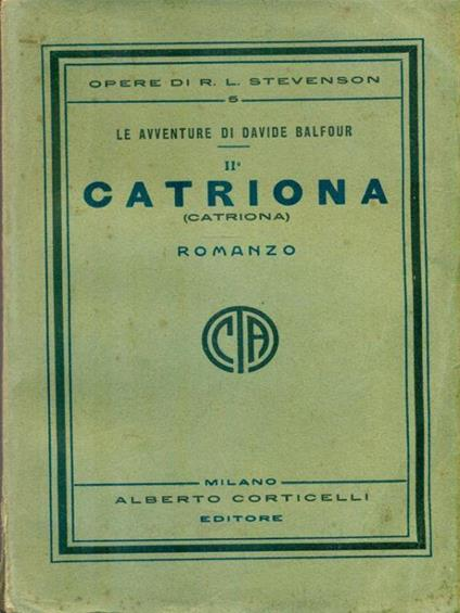 Catriona - Robert Louis Stevenson - copertina
