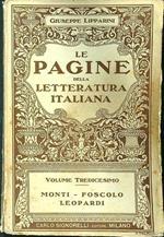 Le pagine della letteratura italiana volume Monti-Foscolo-Leopardi