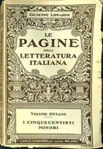 Le pagine della letteratura italiana volume ottavo I cinquecentisti minori
