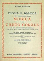 Teoria e pratica per l'insegnamento della musica e del canto corale fascicolo 6