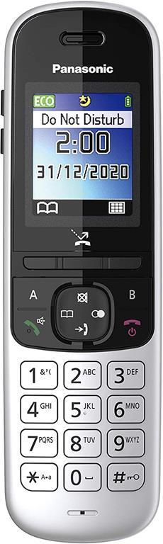 Panasonic KX-TGH710 Telefono DECT Nero, Argento Identificatore di chiamata