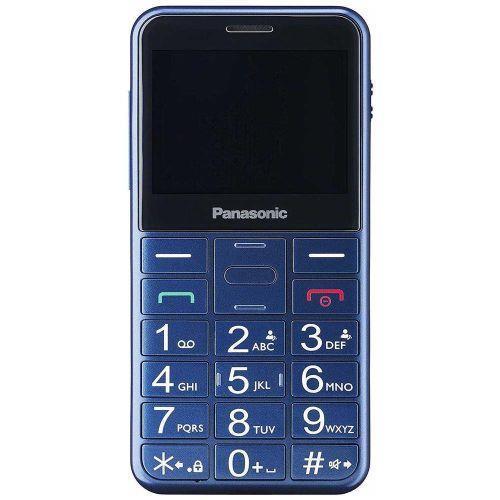 "Kx-tu150 senior phone dual sim display 2.4"" micro sd bluetooth con tasti grandi + sos fotocamera colore blu"