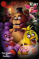Poster Five Night At Freddy's. Group 61x91,5 cm.