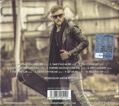 Anytime You Need Me - CD Audio di Ben Poole - 2