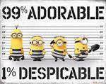 Poster Mini 50x40cm Despicable Me 3. 99% Adorable 1% Despicable