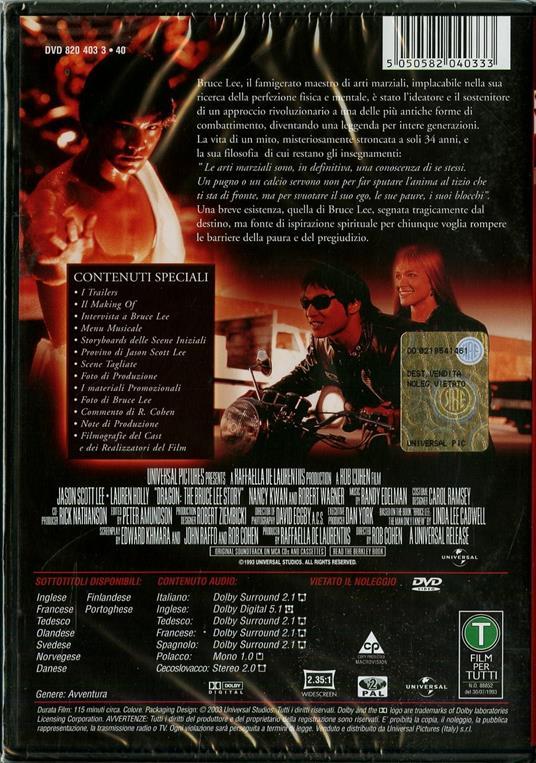Dragon. La storia di Bruce Lee di Rob Cohen - DVD - 2
