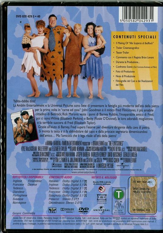 The Flintstones di Brian Levant - DVD - 2