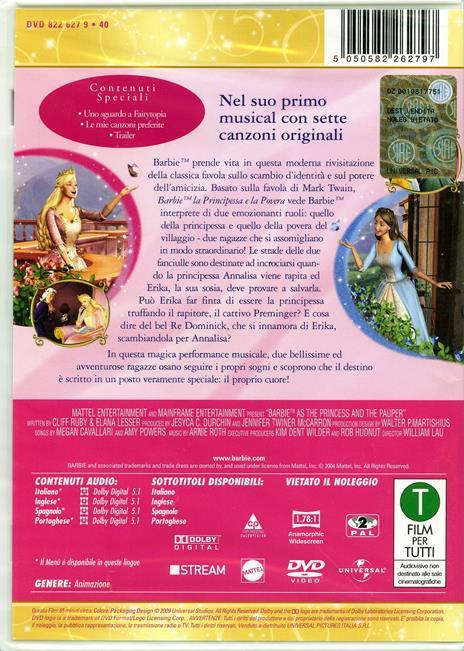 Barbie. La principessa e la povera di William Lau - DVD - 2