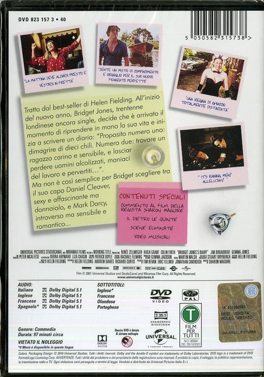 Il diario di Bridget Jones di Sharon Maguire - DVD - 2