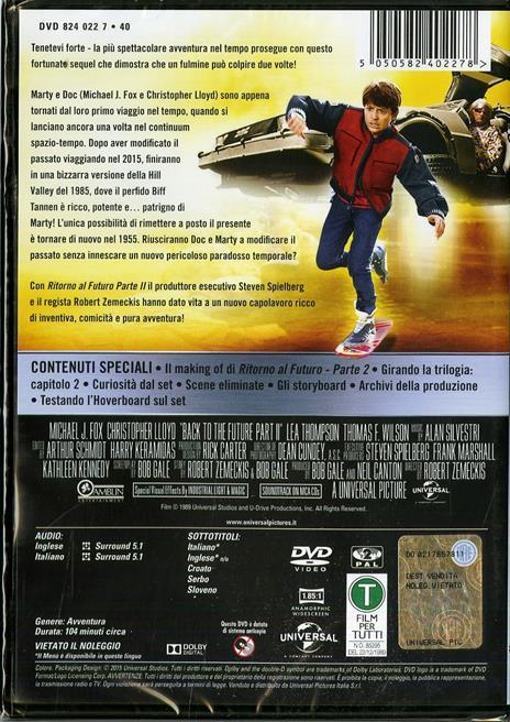 Ritorno al futuro. Parte II di Robert Zemeckis - DVD - 2