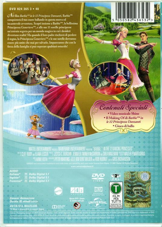 Barbie e le 12 principesse danzanti di Greg Richardson - DVD - 2